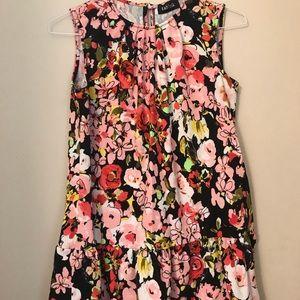 fab'rik Print Dress with Ruffle at Hem Size Medium